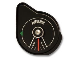 Alternator Gauge Black 1969 - Scott Drake