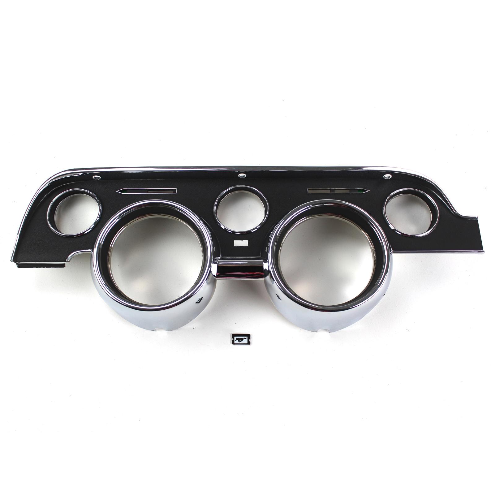 5 Piece Standard 1967-1968 Ford Mustang Instrument Bezel Lens