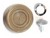 Window Handle / Crank Knob Each 1968 - 1973 Parchment - Daniel Carpenter