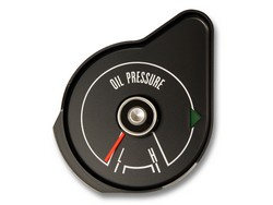 Oil Pressure Gauge Black 1969 - Scott Drake