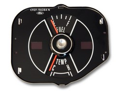 Fuel  Temperature Gauge Black 1969