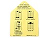 Heater Installation Tab Decal 1964.5 - Osborn Reproductions