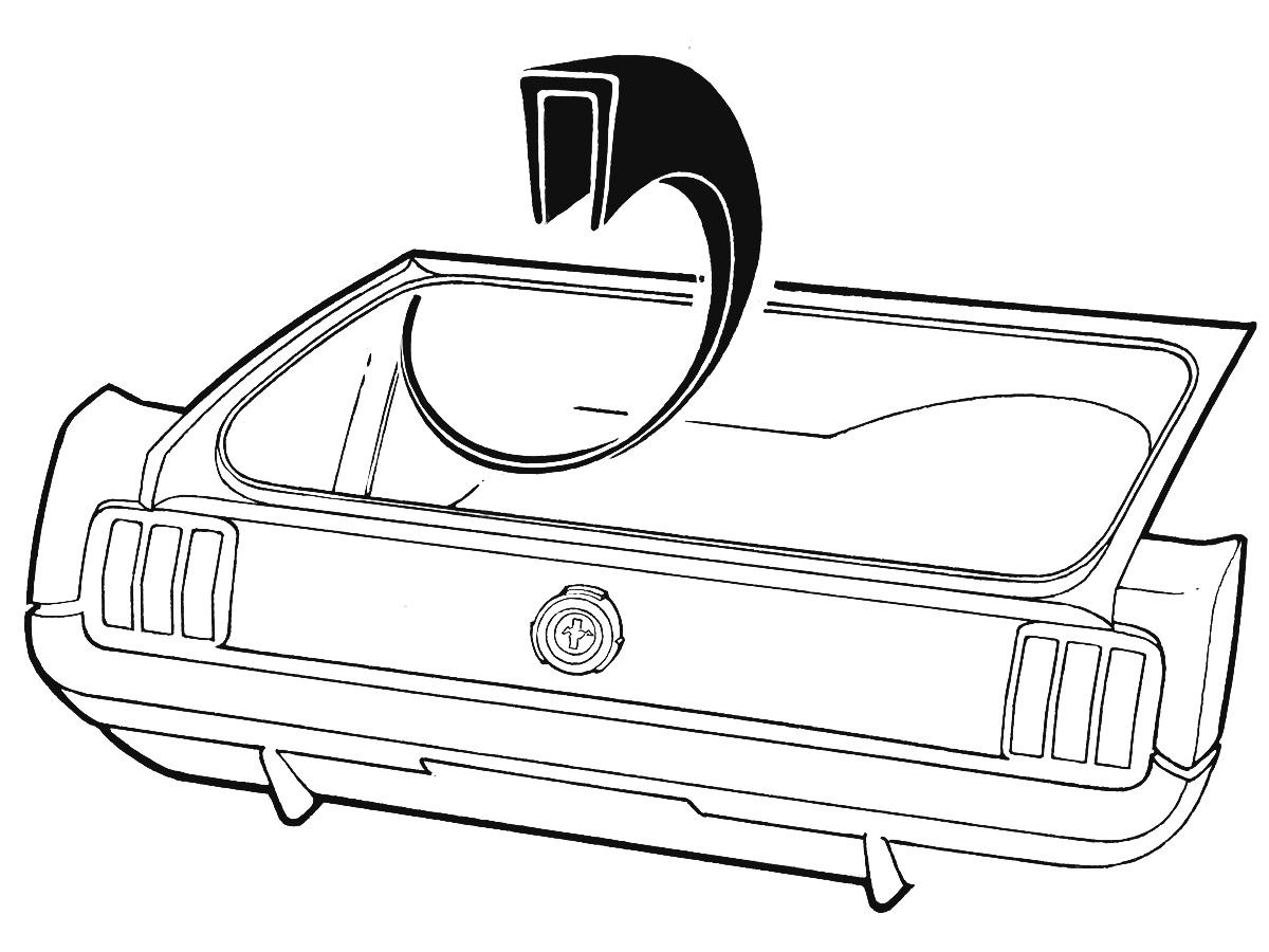 Mustang Gasket Tail Light Body 1967-1968 Daniel Carpenter