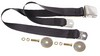 Seat Belt Lap Belt Style Each 1964 1/2 - 1973 Black - Dynacorn
