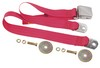 Seat Belt Lap Belt Style Each 1964 1/2 - 1973 Bright Red - Dynacorn