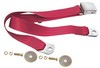 Seat Belt Lap Belt Style Each 1964 1/2 - 1973 Dark Red - Dynacorn