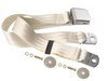Seat Belt Lap Belt Style Each 1964 1/2 - 1973 White - Dynacorn
