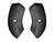 Seat Hinge Covers Black Pair 1964 1/2 - 1967 - Scott Drake