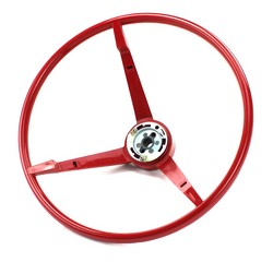 Steering Wheel Standard Colored 1965 Bright Red