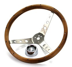 Steering Wheel Grant Deluxe Woodgrain 1965 - 1973