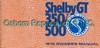 Owner's Manual Shelby 1970 - Osborn Reproductions