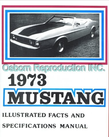 Mustang Exploded View Illustrated 1964 1//2-1965 Osborn Reproductions