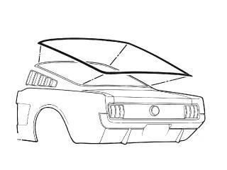 rear window weatherstrip fastback 1964 1 2 1966 daniel carpenter 1973 Ford Rear End