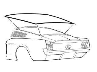 rear window weatherstrip fastback 1967 1968 daniel carpenter GTA 4 Mustang Mach kentucky mustang automotive