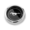 Wheel Cap Magnum 500 Black with Silver Horse Each  1964 1/2 - 1973
