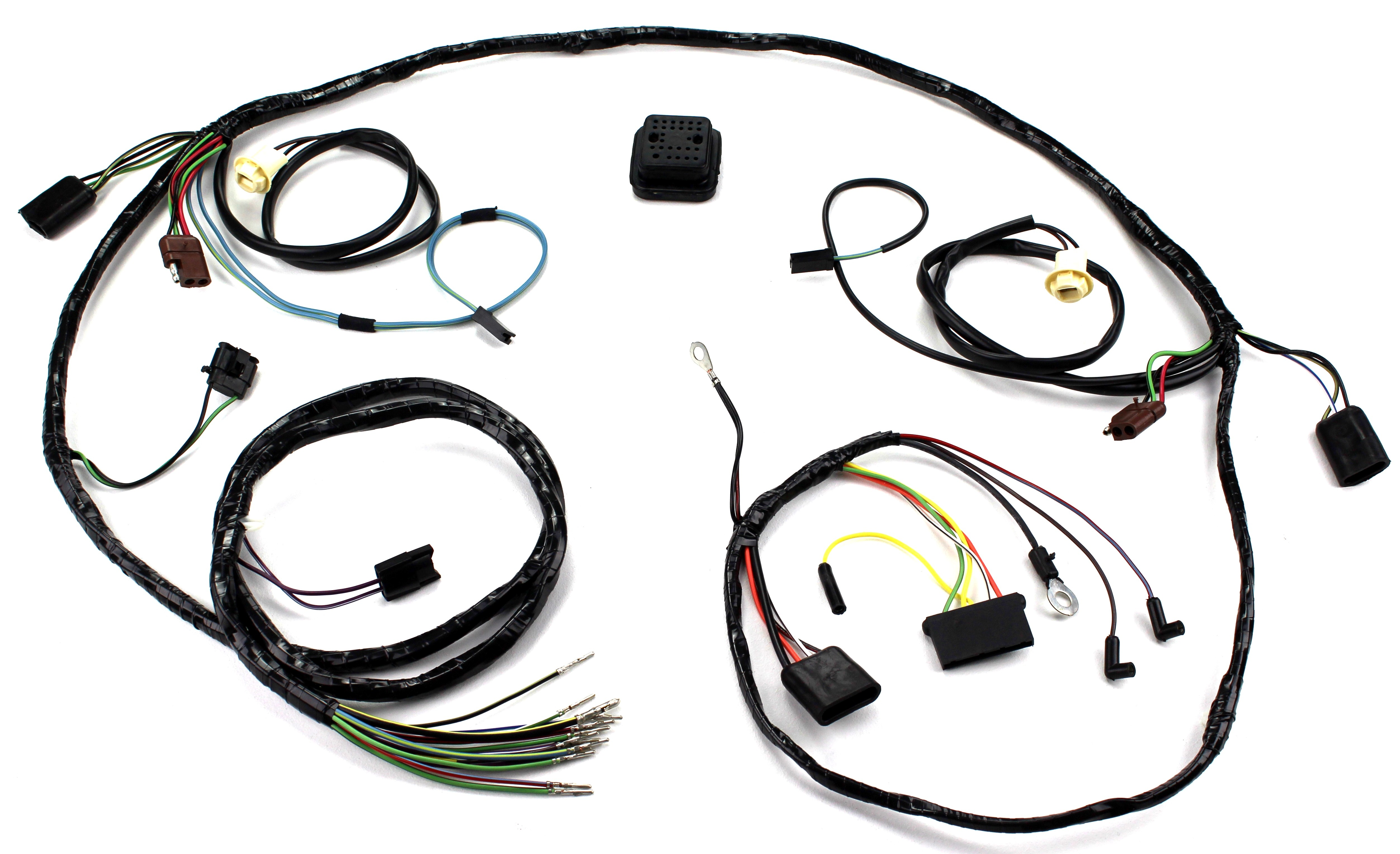 Alloy Metal Products Mustang Dash Cluster Wiring Harness With Tach 1967