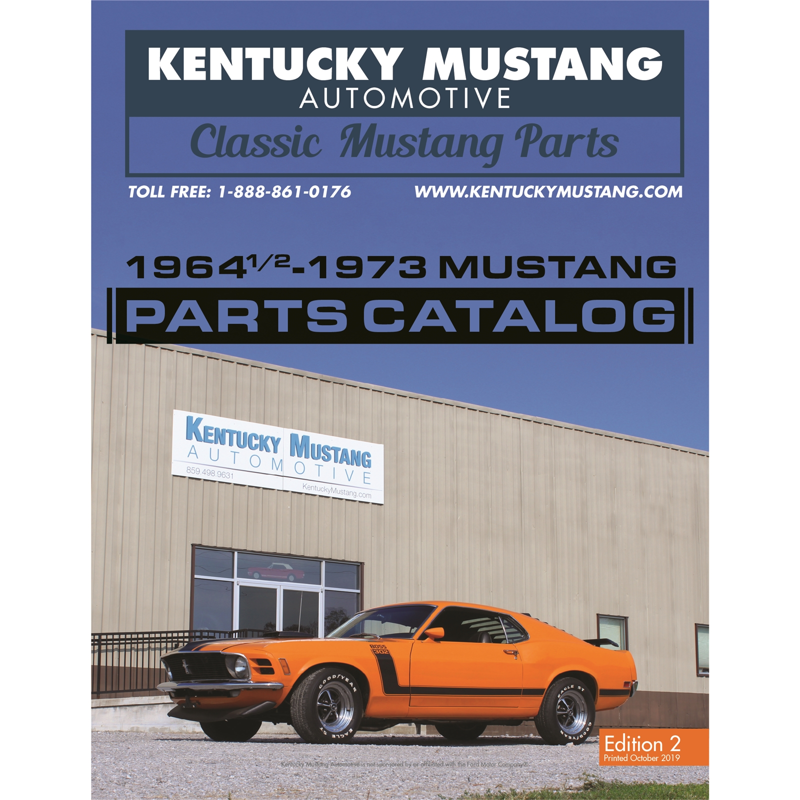 Kentucky Mustang Automotive Catalog 1964 1/2 - 1973 Mustang Parts (Free to  lower 48 US states)
