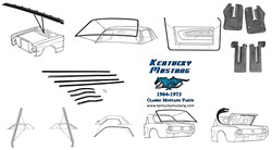 Weatherstrip Kit Coupe 1964 1 2 - 1966