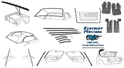 Weatherstrip Kit Convertible 1964 1 2 - 1966