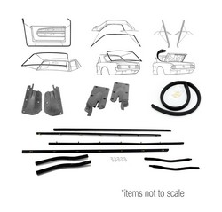 Weatherstrip Kit Coupe 1967 - 1968