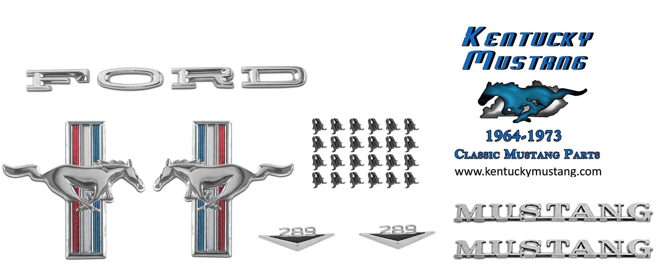 Scott Drake Mustang Emblem Kit Six Cylinder Fastback 1965-1966