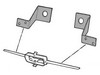 Grill Bar Mounting Brackets Standard 1964 1/2 - 1965 - Scott Drake