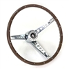 Steering Wheel Pony  Deluxe Woodgrain 1965 - 1966