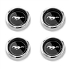 Wheel Cap Magnum 500 Black with Silver Horse Set of 4  1964 1/2 - 1973