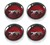 Wheel Cap Magnum 500 Mercury Cougar with Silver Cat Set of 4 1967 - 1977 Red - Scott Drake