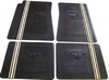 Floor Mat Black  White Stripe 1964 1 2 - 1973