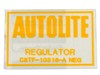 Voltage Regulator Decal Hi-Po ECD 1968 - 1971 - Osborn Reproductions
