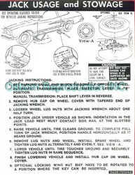 Jacking Instructions Decal 1976 - Osborn Reproductions