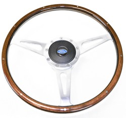 Steering Wheel Kit Lecarra Style Wood with Ford Emblem  1967 - 1973
