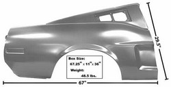 Quarter Panel Fastback Full with Indent RH 1968 - Dynacorn