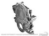 Timing Chain Cover Small Block V8 Molded Pointer / Cast Iron Water Pump Style 1965 - 1967 - Scott Drake