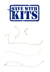 Brake Line Kit Single Drum Single Exhaust 1966 Six Cylinder - Right Stuff Detailing