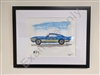 "Custom Car Painting 8.5"" x 11"" - One of a Kind - Framed"
