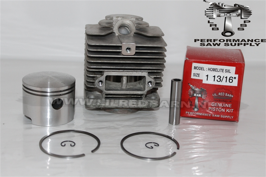 HOMELITE SUPER XL, BIG RED, OLD BLUE, XL12 CYLINDER & PISTON KIT, 1 13/16