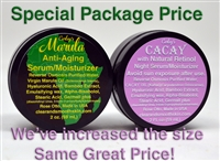 (Package Priced) Marula and Cacay (both 2 ounces)
