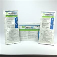 Demon WP is odorless, non staining and it has a low toxicity towards mammals, birds and reptiles. It belongs in the synthetic pyrethrum group of insecticides.