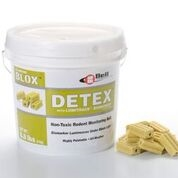 Bell Labs - DETEX BLOX is a non-toxic, highly palatable bait for monitoring rodent activity in sensitive areas. Each DETEX BLOX weighs 20 grams.