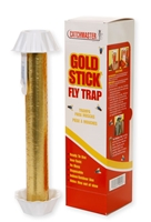 Catchmaster Gold Stick Fly Trap is perfect for those who prefer inconspicuous fly control. Use in homes, garages, offices, kitchens, laboratories, stables, barns and inside garbage cans or containers. Sold as each.