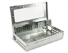 Pro-Ketch - clear lid - Low profile multiple-catch mouse trap. Does not require winding or re-setting -  entrance tunnels attach to the lid - easing cleaning.12 Traps Per Case.
