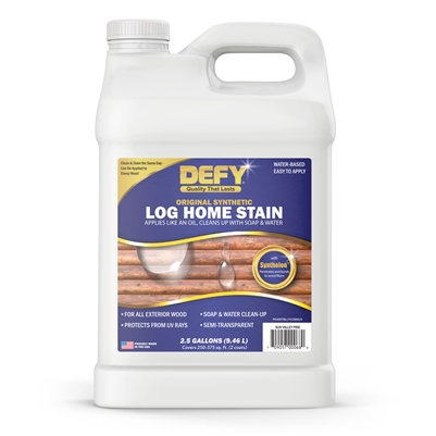 DEFY Original Synthetic Log Home Stain 2.5 Gallons