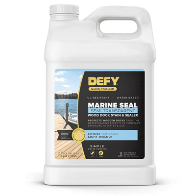 DEFY Marine Seal Dock Stain and Sealer - 2.5 Gallon
