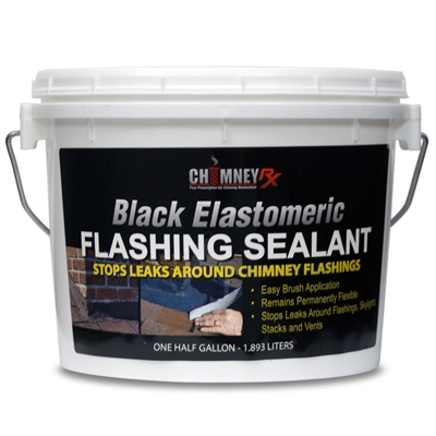 ChimneyRx Black Elastomeric Flashing Sealant - Half Gallon