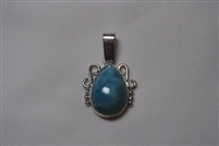 Larimar Pendant  'Crown'