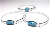 Larimar Bangle 'Hook'
