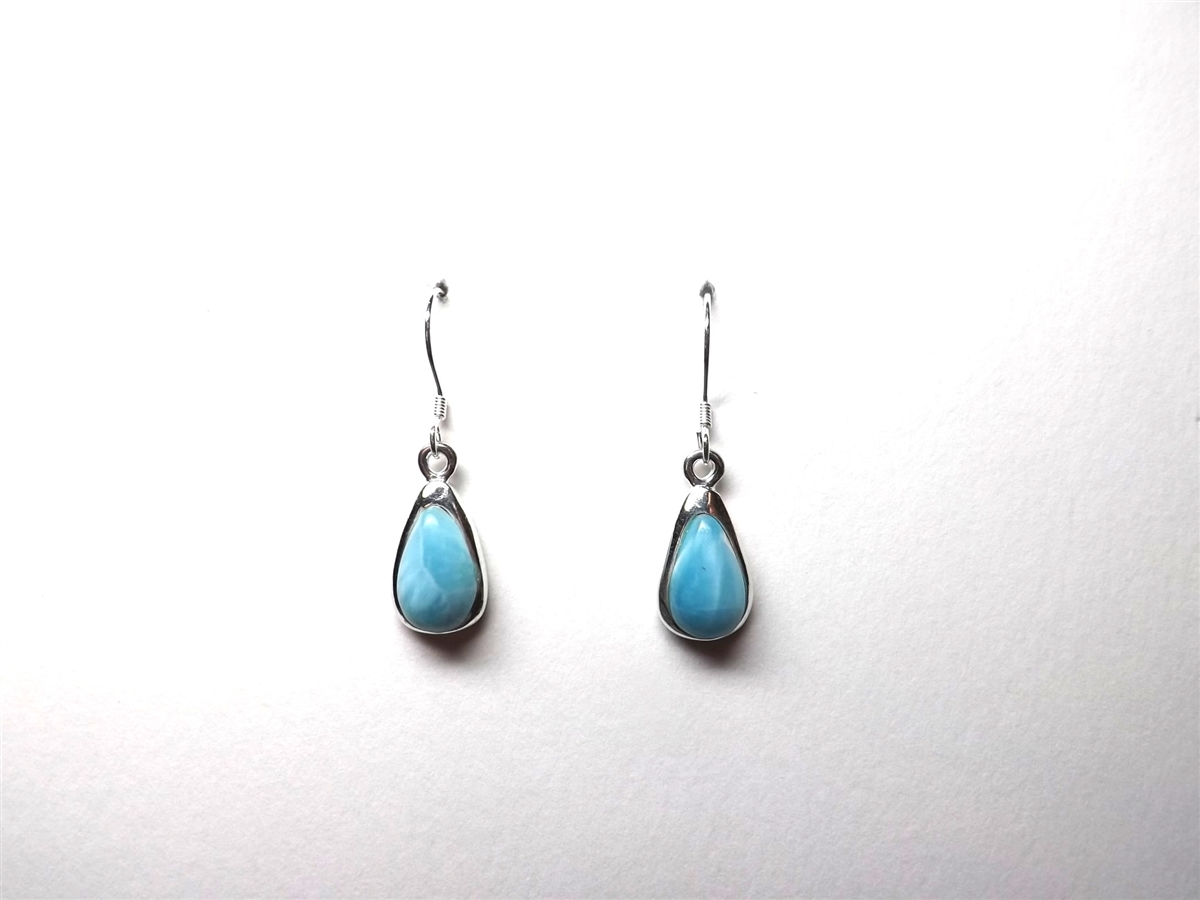 il market dominican stud larimar etsy handmade earrings silver gemstone sterling blue