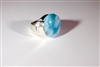 Larimar ring  'Queen 1'